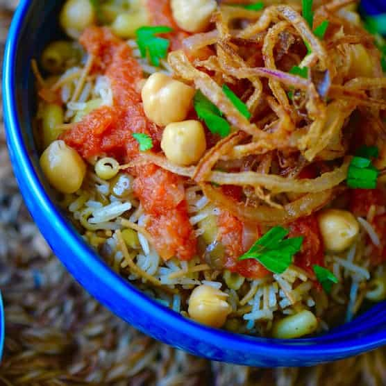 Vegan Egyptian Kushari